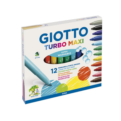 Rotuladores MAXI de colores Giotto (12 rotuladores)