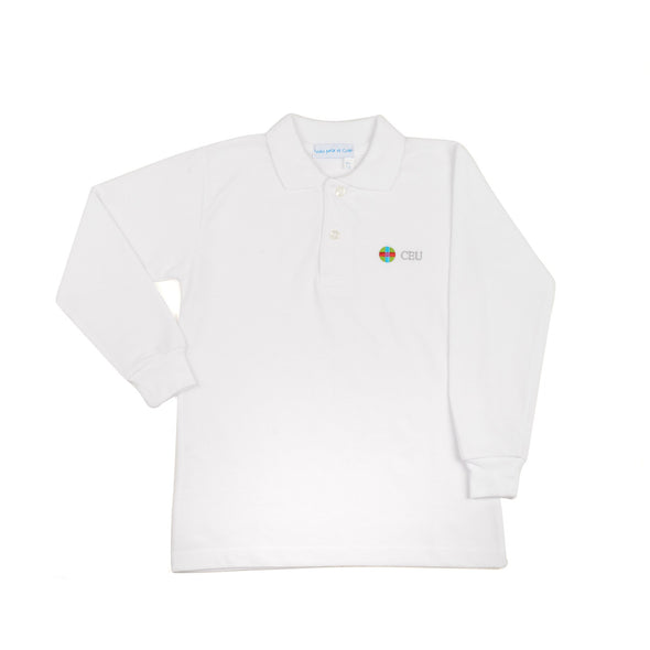 Polo Blanco Manga Larga CEU de Uniforme escolar