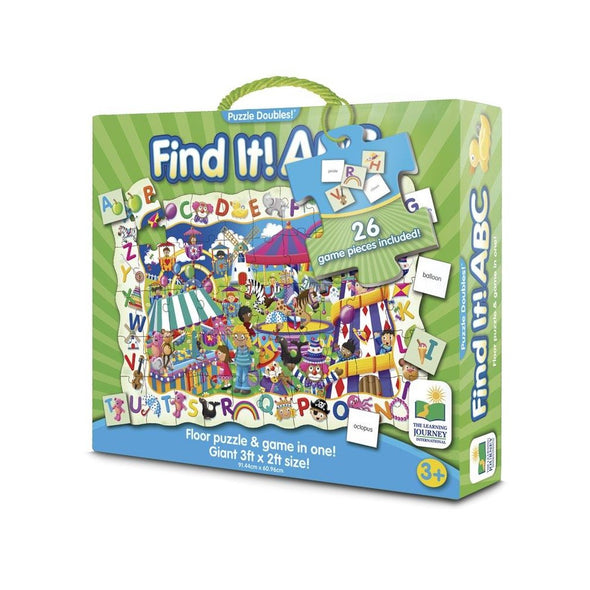 Puzzle doble find it abc 50 piezas 3 años