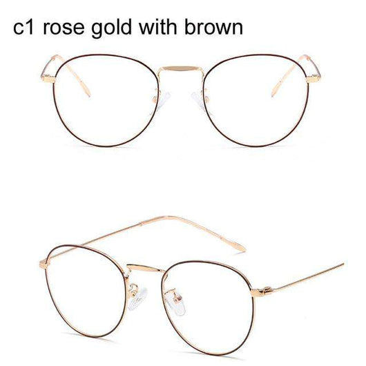 a27ed03bc0 Computer Glasses 2019 Spectacle Frames Anti Blue Light Goggles Anti Glare Eyeglasses  Frame Women Round Clear