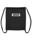 gym bag amour noir coton bio