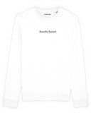 sweatshirt beautiful bastard blanc coton bio