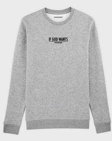 boutique streetwear sportswear SWEATSHIRT  IF GOD WANTS paris