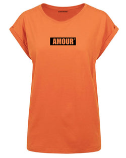 tshirt amour orange