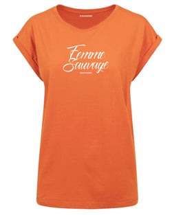 tshirt t-shirt femme sauvage orange