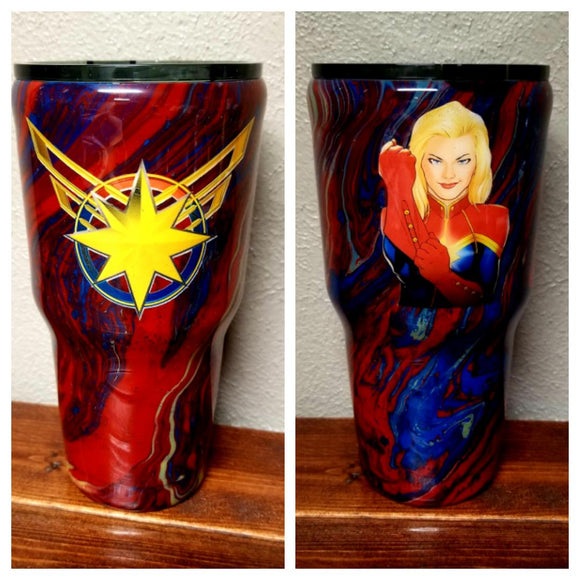 Captain Marvel Tumbler