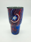 Captain America Tumblers and Nerd Stein