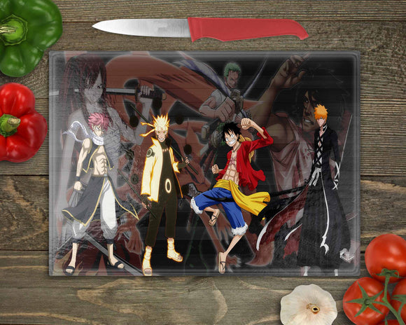 Anime Mashup Cutting Board