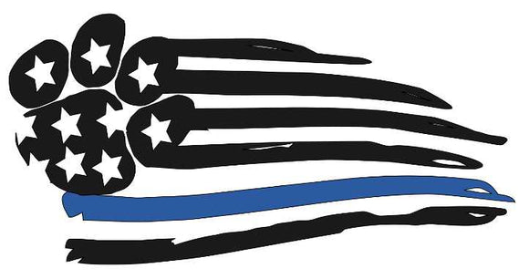 American Flag Paw- Thin Blue Line