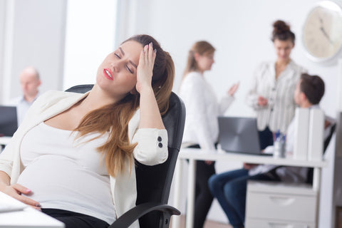 Pregnant woman feeling nauseous