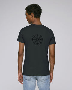 Vegvísir Men's - Black on Black - Fitted