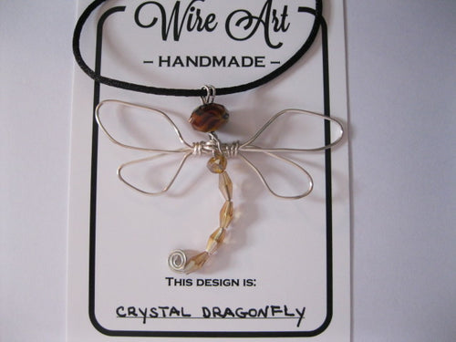 Wire Art dragonfly necklace