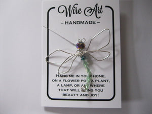 Wire Art Dragonfly pot hanger