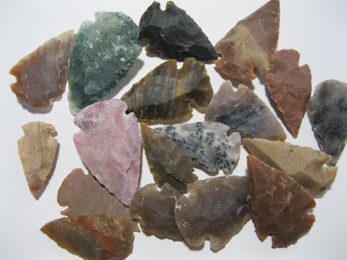 Bulk agate stone arrowheads for DIY