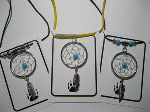 Large size dreamcatcher necklace