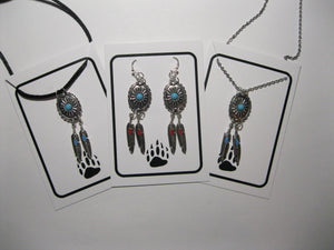 Concho necklace and earrings