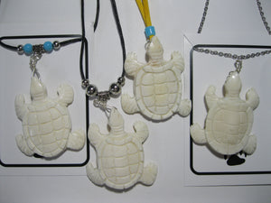 Carved bone Turtle necklace