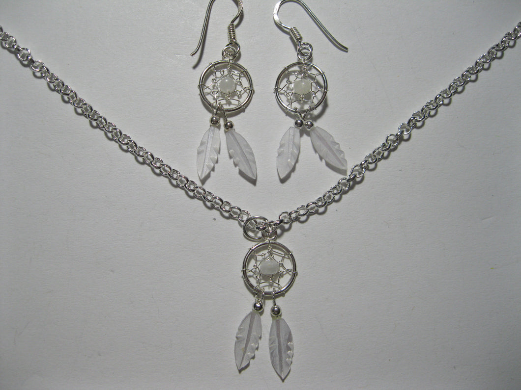 Sterling Silver M.O.P. white dreamcatcher