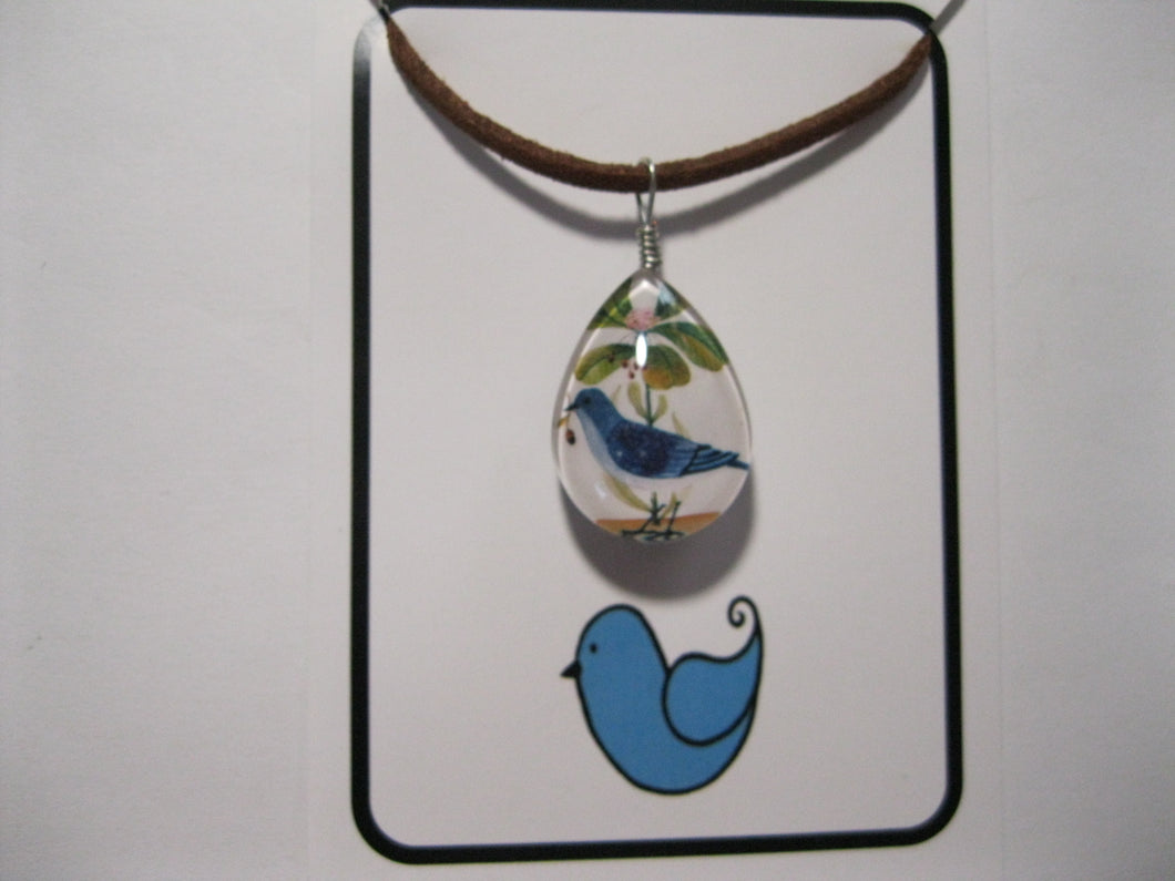 Glass Bluebird Necklace