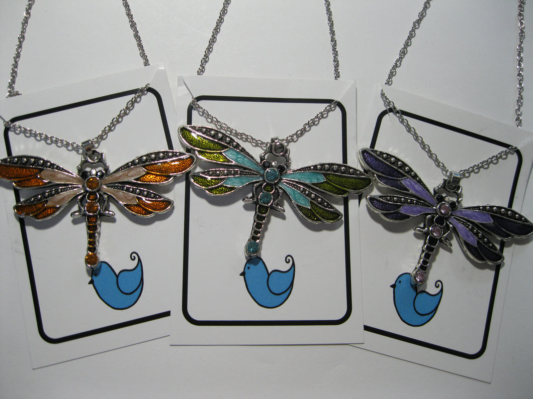 Dragonfly fashion necklace