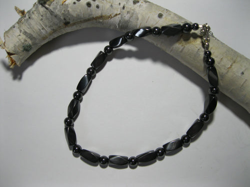 Hematite Style Magnetic Anklet