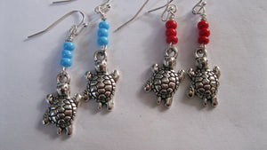 Turtle earrings mini