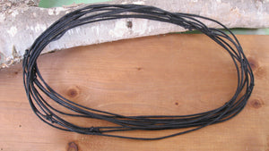 Black cotton slider cord, ready made, ready to use.