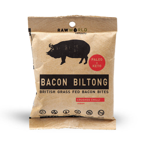 40g bacon biltong bites crushed chilli flavour