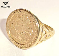 Triple Yellow Gold Plated Sovereign (St George)
