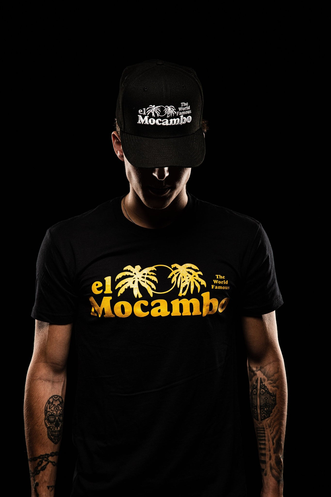 New El Mo logo tee - Black/Yellow