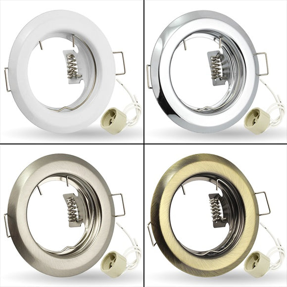 LED Fixed Recessed Ceiling Round Downlight Light Fitting GU10 220V K-15