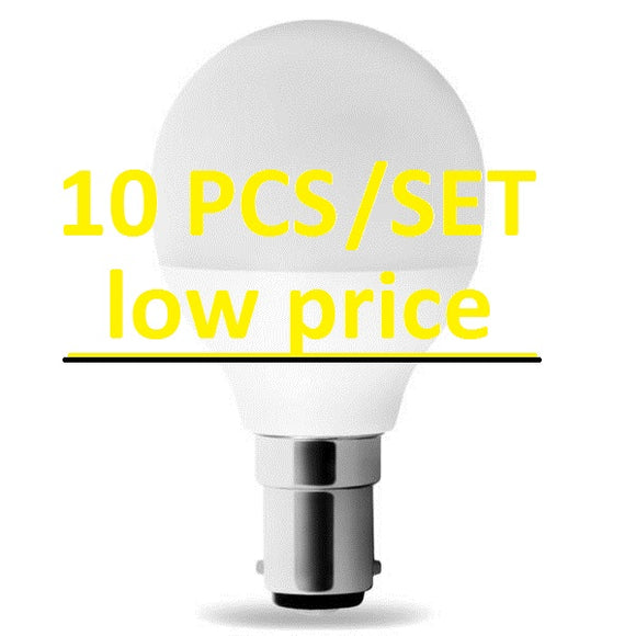 LED B15 G45 5,5W Warm White MILK LUMI Bulb SET, 10 PCS