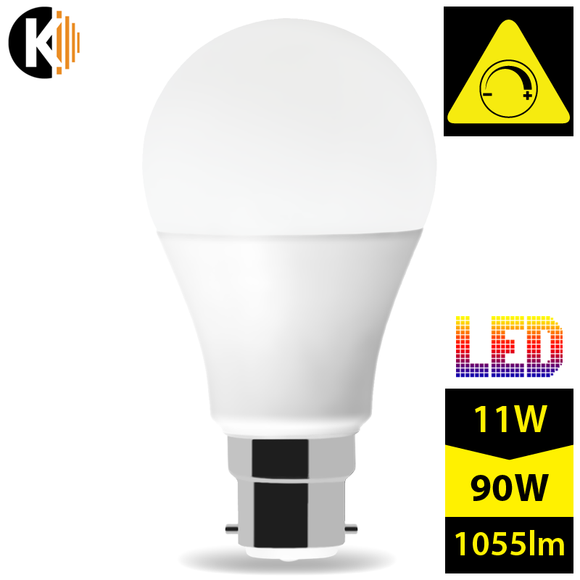 B22 A60 11W LED LUMI Bulb Milk Dimmable Warm White