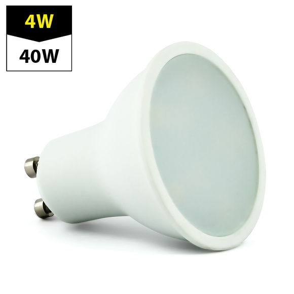 Led Bulb GU10 230V 4W cold white, milk