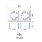 Recessed Downlight Fitting in Set of 10 OH42