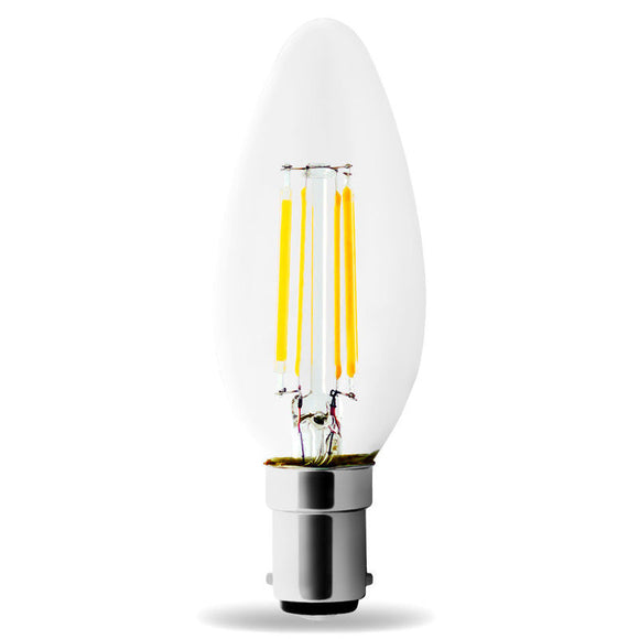 LED B15 C35 4W 2700k Warm White Filament LUMI Bulb