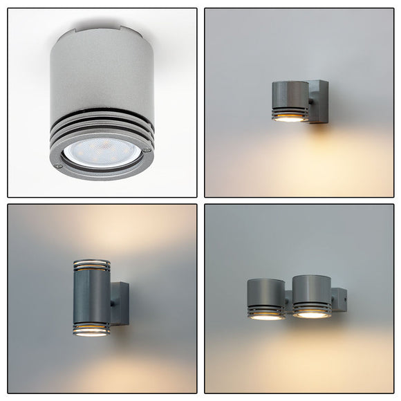 LED Tilted Ceiling or Wall Light Fitting, Downlight GU10 Socket, K-24 Spotlight