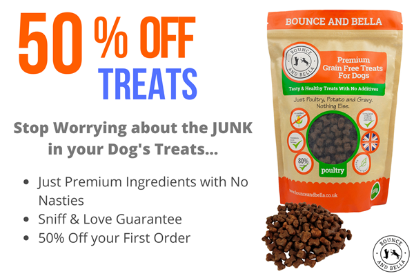 Just Premium Ingredients with No Nasties  Sniff & Love Guarantee 50% Off your First Order