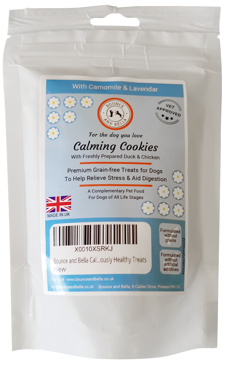 Bounce and Bella Calming Dog Treats - Calming Cookies (68g pack)