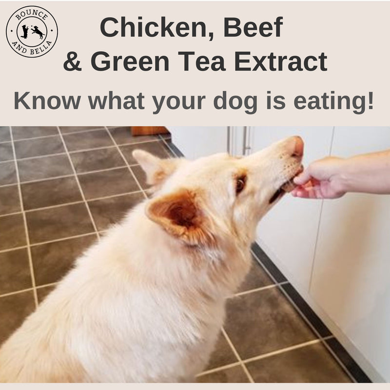 Natural Dog Chews - Chicken, Beef and Green Tea