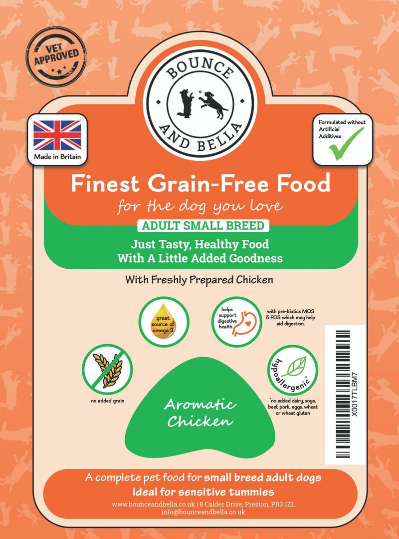 SMALL BREED - Aromatic Chicken and Veg - Complete Grain Free Dog Food