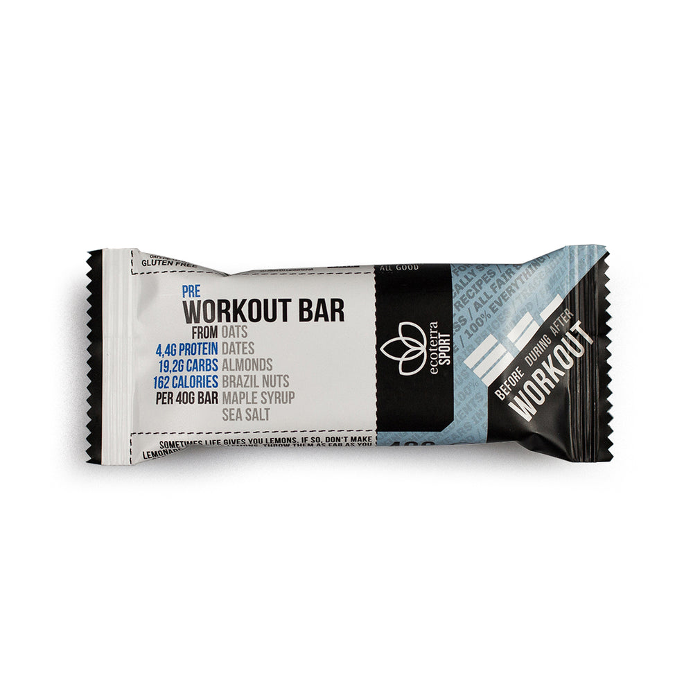 Eco Terra Sport - Riegel Pre Workout Bar | Bio | Vegan | Glutenfrei | 40g