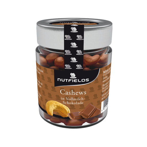 Nutfields Cashewkerne in Vollmilchschokolade | Fairtrade | 150 g
