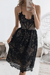 Backless Lace Midi Dress