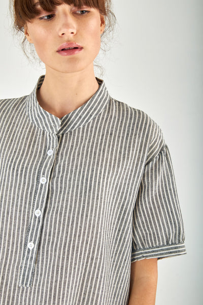 Striped Gauze Shirt Dress