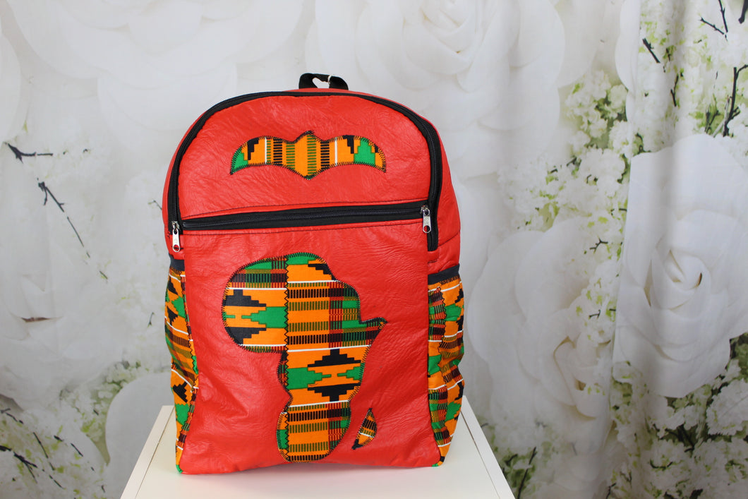 Bella African Bookbags - Red