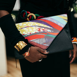 AMMA JO Black Signature Wild Thing Clutch