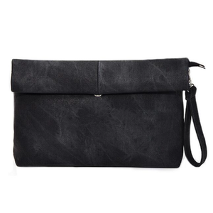 "MADELYN BLAIR ""The Classic"" Roll Up Clutch- Black"