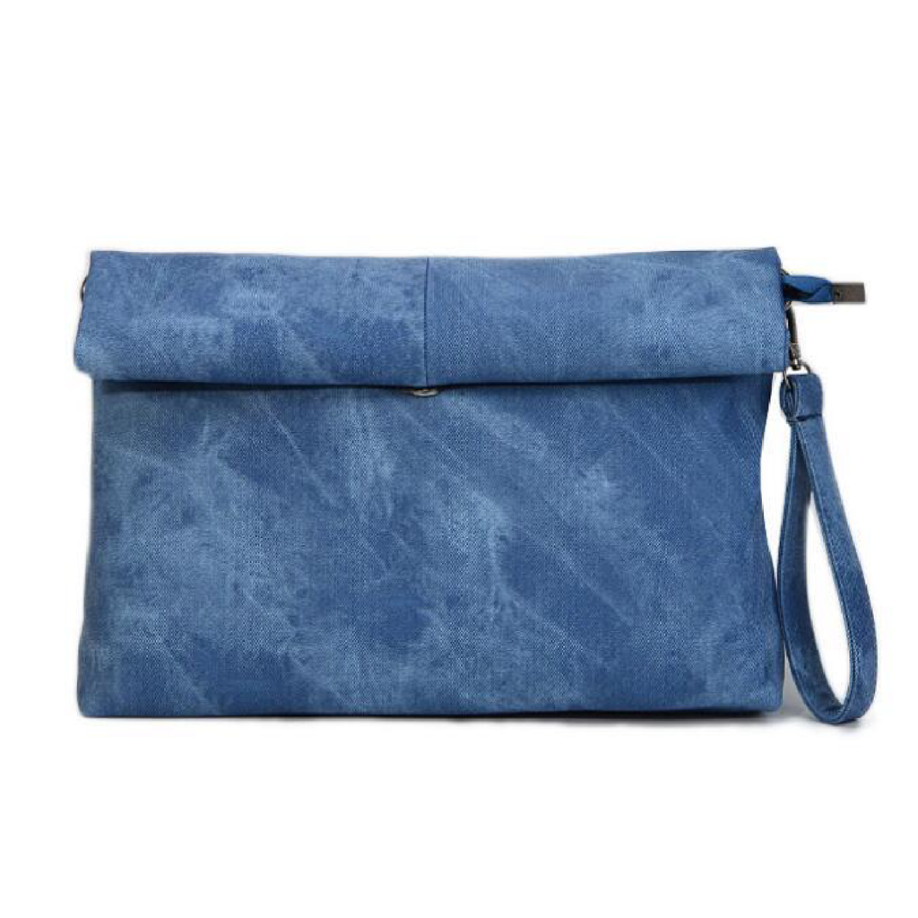 "MADELYN BLAIR ""The Classic"" Roll Up Clutch- Marina Blue"