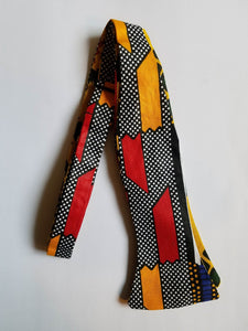 Red/Black/Yellow Adjustable Self Tie Bowties - Made in Africa